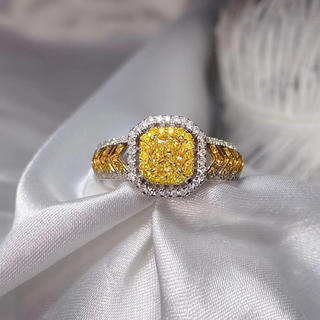 0.61ctファンシーイエロー指輪(リング(指輪))