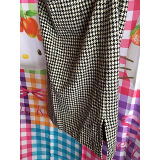 コムサイズム(COMME CA ISM)のコムサ COMME CA スカート レディース9 千鳥格子オシャレブランド婦人服(ロングスカート)
