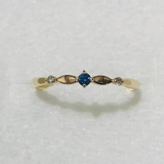 K10 サファイア ダイヤリング(リング(指輪))