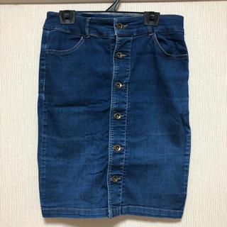 ハニーズ(HONEYS)のデニムボタンタイトスカート(ひざ丈スカート)