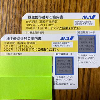 エーエヌエー(ゼンニッポンクウユ)(ANA(全日本空輸))のANA 株主優待券2枚セット (航空券)