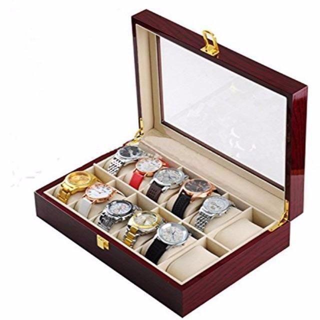 木製 腕時計収納 ボックス 12本用 コレクション ケース ディスプレイ ピア の通販