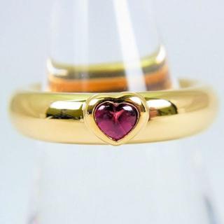 ティファニー(Tiffany & Co.)のティファニー 750 ピンクトルマリン ハート リング 11号[f37-15](リング(指輪))