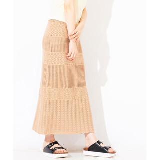 ウィゴー(WEGO)の透かし編みニットスカート 新品未使用タグ付き(ロングスカート)