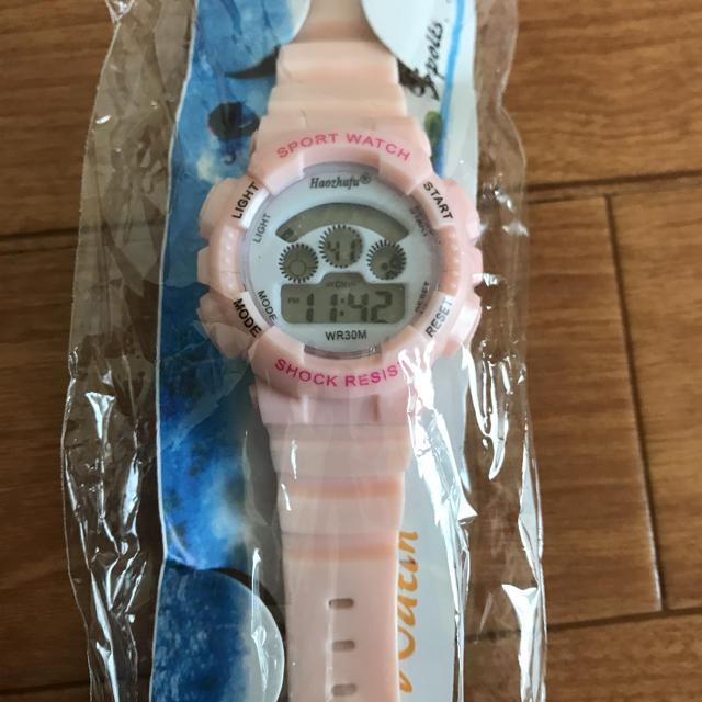 スポーツ ウォッチ 新品 ピンク 腕時計の通販