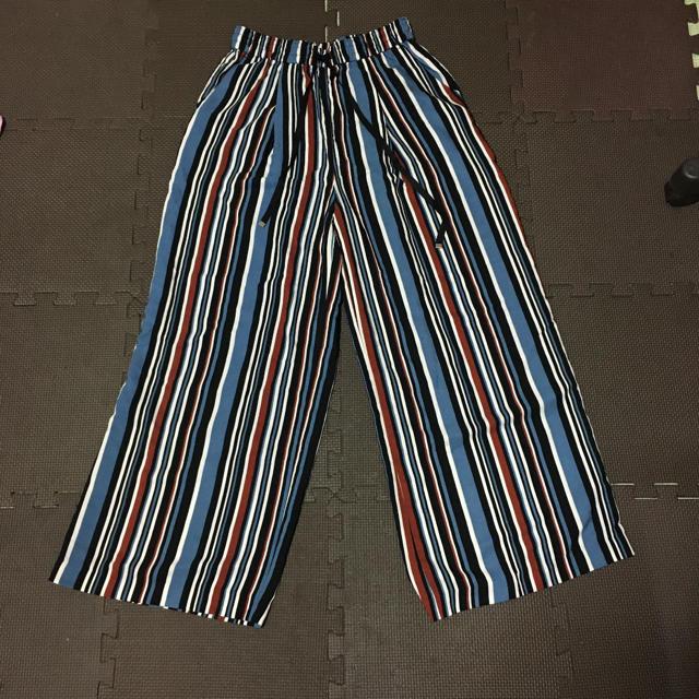 JEANASIS(ジーナシス)のジーナシス  ストライプワイドパンツ レディースのパンツ(カジュアルパンツ)の商品写真