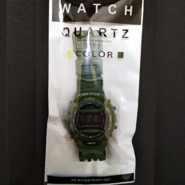 【送料無料・新品】腕時計(緑)の通販