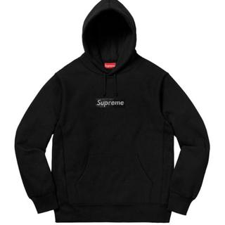 シュプリーム(Supreme)のSupreme  Swarovski シュプリーム スワロフスキー パーカー 黒(パーカー)