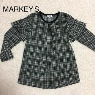 MARKEY'S - MARKEY'S裏起毛チェックワンピース