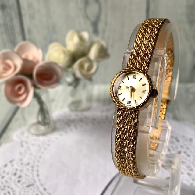 agete - 【美品】agete アガット 腕時計 ラウンドフェイス ジュエリーウォッチの通販