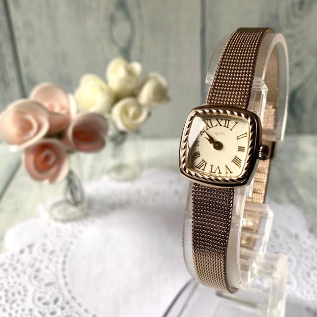 agete - 【美品】agete アガット 腕時計 スクエア ゴールド スクエアの通販