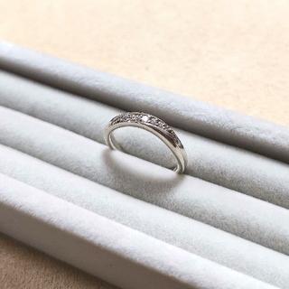 ヨンドシー(4℃)の4℃ シルバー リング キュービックジルコニア カーブ(リング(指輪))