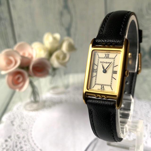 Saint Laurent - 【希少】Yves Saint Laurent 腕時計 スクエア レディース 金の通販