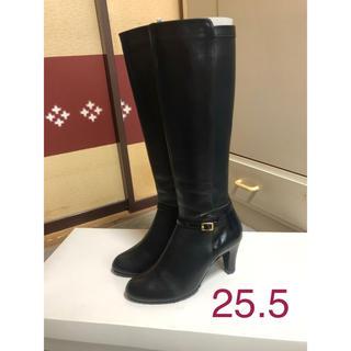 ギンザワシントン(銀座ワシントン)の【銀座ワシントン】ロングブーツ ブラック 25.5センチ(ブーツ)