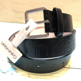 カルバンクライン(Calvin Klein)のプレゼント ブランド カルバンクライン CKロゴ刻印 キャメル ベルト バックル(ベルト)
