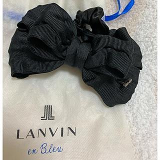 ランバンオンブルー(LANVIN en Bleu)のランバンオンブルー リボンシュシュ ブラック(ヘアゴム/シュシュ)