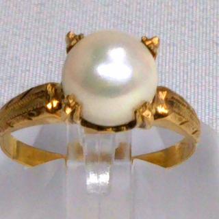 k18 18 真珠リング(リング(指輪))