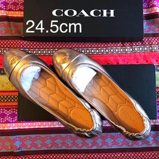 コーチ(COACH)のCOACH 靴 ゴールドカラー(バレエシューズ)