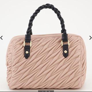 レオリー♡leory 初期 ツイストハンドルボストンバッグ pink(ハンドバッグ)