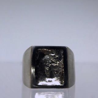 マルタンマルジェラ(Maison Martin Margiela)の▪︎Uimp▪︎ silver signetring スクエアリング メンズ (リング(指輪))