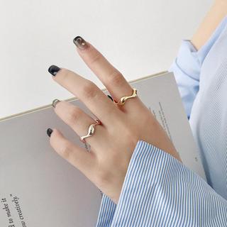 トゥデイフル(TODAYFUL)のR79「シルバー925艶ウェーブリング」指輪 S925(リング(指輪))