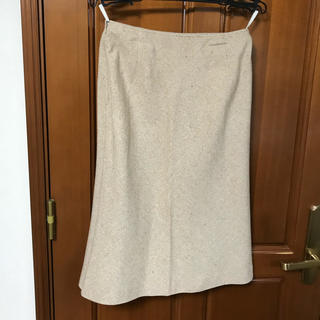 ウール膝丈スカート【美品】(ひざ丈スカート)