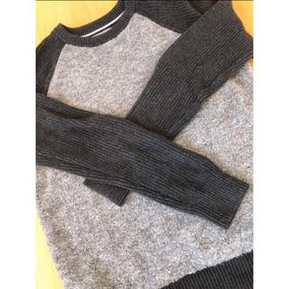 カルバンクライン(Calvin Klein)のカルバンクライン バイカラークルーネックセーター(ニット/セーター)