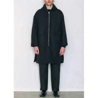COMOLI - COMOLI  18aw  メルトンフーデッドコート コモリ