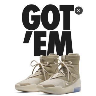 ナイキ(NIKE)のNIKE AIR FEAR OF GOD 1 OATMEAL 26.0cm(スニーカー)