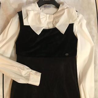 レッドヴァレンティノ(RED VALENTINO)の専用☆レッドヴァレンティノ リボン 白襟 上品で可愛いブラウス☆ 40(シャツ/ブラウス(半袖/袖なし))