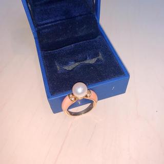 18Kダイヤ・パール指輪 12号(リング(指輪))