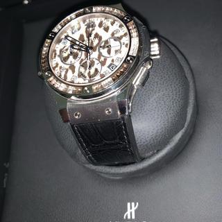 ウブロ(HUBLOT)の世界限定500本 ウブロ ビッグバン スノーレオパード &純正アリゲーターベルト(腕時計(アナログ))