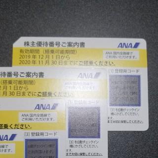 エーエヌエー(ゼンニッポンクウユ)(ANA(全日本空輸))のANAグループ優待券と株主優待券4枚セット(航空券)