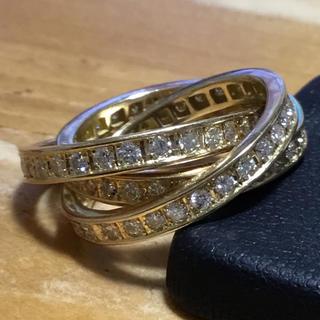 美麗✨キラッキラッ✨フルエタニティ✨ダイヤモンド✨三連リング✨指輪✨約10号(リング(指輪))