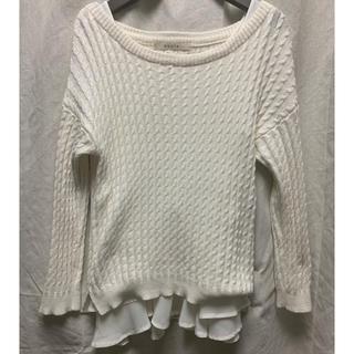 ストラ(Stola.)の裾フリルニット(ニット/セーター)
