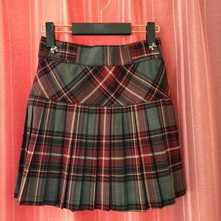 エルディープライム(LD prime)のLD prime 赤チェックプリーツスカート(ミニスカート)