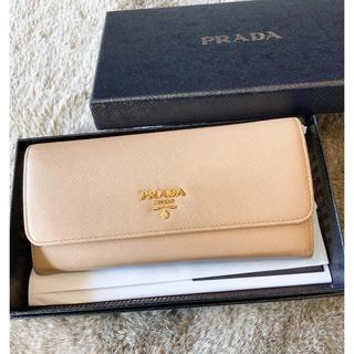 プラダ(PRADA)のPRADA サフィアーノ バイカラー マルチカラー ベージュ 正規品 きれいめ(財布)