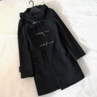 アンタイトル(UNTITLED)のINDIVI ワールド 日本製 黒 ウール混 ダッフルコート*毛*カシミヤ(ダッフルコート)