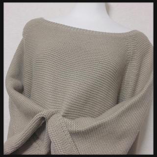 ティティベイト(titivate)の【titivate】ニット セーター  ベルスリーブ 暖かふわゆる LサイズOK(ニット/セーター)