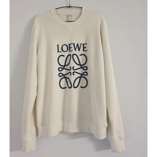 ロエベ(LOEWE)の本物 Loewe ロエベ スウェット ロゴ ホワイト サイズM タグ付き(スウェット)