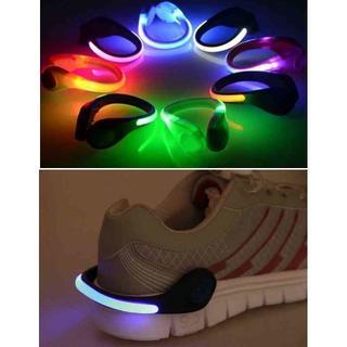 LED シューズクリップ 夜間 ジョギング ウォーキング 安全 ブルー(その他)