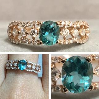 K18 グランディディエライト ダイヤモンド リング(リング(指輪))