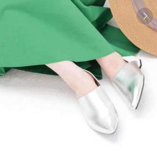 オリエンタルトラフィック(ORiental TRaffic)の【新品未使用】春夏新作ポインテッドバブーシューズL(スリッポン/モカシン)