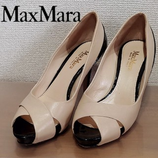マックスマーラ(Max Mara)のMaxMara バイカラー オープントゥ パンプス マックスマーラ(ハイヒール/パンプス)