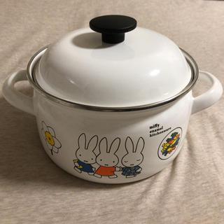フジホーロー(富士ホーロー)のミッフィ ホーロー両手鍋(鍋/フライパン)