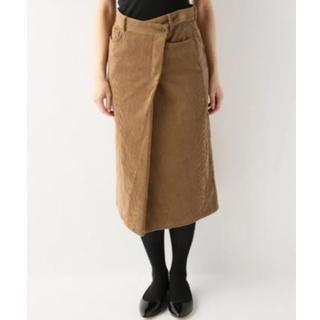 ジャーナルスタンダード(JOURNAL STANDARD)のjournal standard フトコールタイトスカート  キャメル38(ひざ丈スカート)