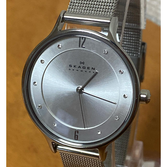 SKAGEN(スカーゲン)の【美品・人気モデル】SKAGEN スカーゲン 12Pダイヤ DW レディースのファッション小物(腕時計)の商品写真