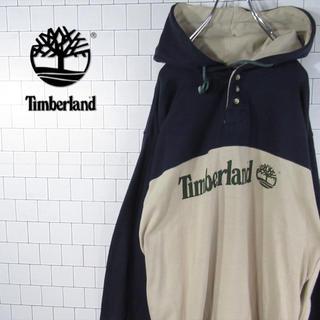 ティンバーランド(Timberland)の【デカロゴ】激レア ティンバーランド アースカラー ゆるだぼ スウェットパーカー(パーカー)