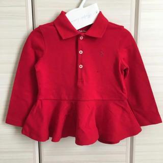 ポロラルフローレン(POLO RALPH LAUREN)の新品♡ラルフローレン 80 ペプラム ポロシャツ 赤(シャツ/カットソー)