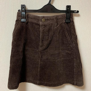 heather - ヘザー  コードュロイ ミニスカート ブラウン